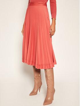 Calvin Klein Calvin Klein Plisovaná sukně Sunray Pleat K20K202101 Růžová Regular Fit
