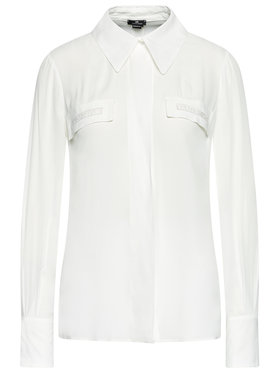 Elisabetta Franchi Elisabetta Franchi Koszula CA-281-11E2-V310 Biały Straight Fit