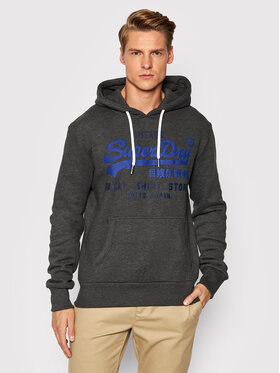 Superdry Superdry Bluza Shop Duo M2011901A Szary Regular Fit