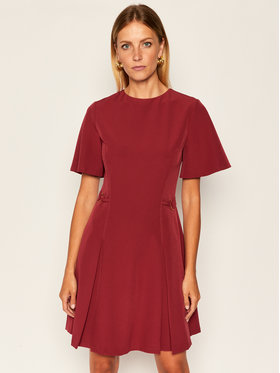 Trussardi Trussardi Koktel haljina Tecno Cady 56D00423 Tamnocrvena Regular Fit