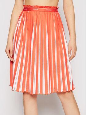 Calvin Klein Calvin Klein Plisuotas sijonas K20K202932 Oranžinė Regular Fit