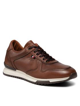 Tommy Hilfiger Tommy Hilfiger Sneakers Runner Craft Leather FM0FM03731 Marron
