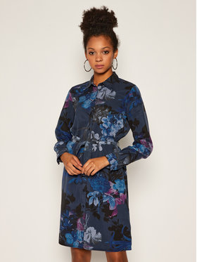 Desigual Desigual Košeľové šaty Florencia 20WWVW78 Tmavomodrá Regular Fit