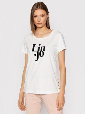 Liu Jo Sport Liu Jo Sport T-Shirt TF1249 J5972 Bílá Regular Fit