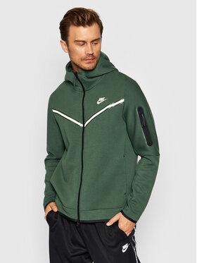 Nike Nike Mikina Sportswear Tech CU4489 Zelená Standard Fit