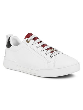 TOMMY HILFIGER TOMMY HILFIGER Laisvalaikio batai Branded Outsole Croc Sneaker FW0FW05214 Balta