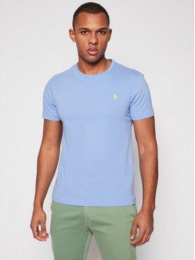 Polo Ralph Lauren Polo Ralph Lauren Marškinėliai Ssl 710671438200 Mėlyna Custom Slim Fit