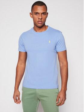 Polo Ralph Lauren Polo Ralph Lauren T-shirt Ssl 710671438200 Bleu Custom Slim Fit