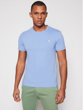 Polo Ralph Lauren Polo Ralph Lauren T-Shirt Ssl 710671438200 Niebieski Custom Slim Fit