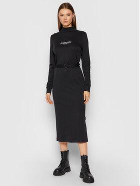 Calvin Klein Calvin Klein Плетена рокля New York Essential K20K203335 Черен Slim Fit
