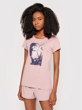 4F 4F T-Shirt H4L21-TSD025 Różowy Regular Fit