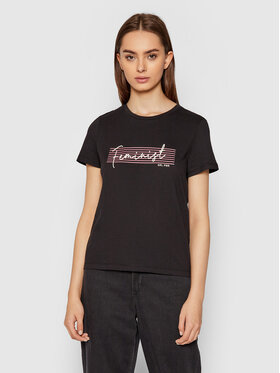 Vero Moda Vero Moda T-Shirt Feminist 10262918 Czarny Regular Fit