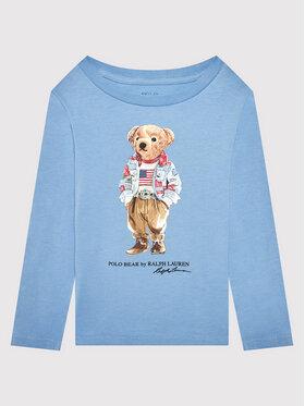 Polo Ralph Lauren Polo Ralph Lauren Блуза Bear 312854212002 Син Regular Fit