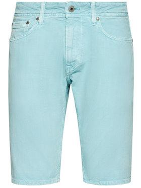 Pepe Jeans Pepe Jeans Džínové šortky Stanley PM800792 Zelená Regular Fit
