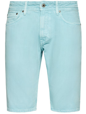Pepe Jeans Pepe Jeans Short en jean Stanley PM800792 Vert Regular Fit