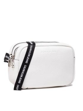Calvin Klein Jeans Calvin Klein Jeans Дамска чанта Double Zip Camera Bag K60K608233 Бял