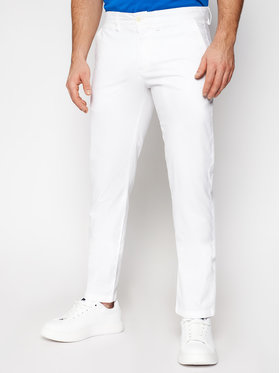 North Sails North Sails Текстилни панталони Chino 672895 Бял Slim Fit