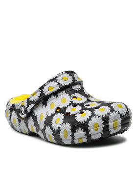 Crocs Crocs Шльопанці Classic Lined Vacay Vibes 207301 Чорний