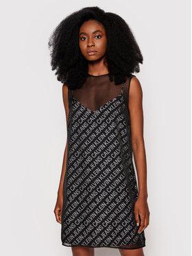 Calvin Klein Jeans Calvin Klein Jeans Sukienka letnia J20J215676 Czarny Regular Fit