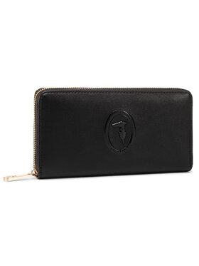 Trussardi Jeans Trussardi Jeans Velká dámská peněženka Lisbona Zip 3 Pocket Lg 75W00246 Černá