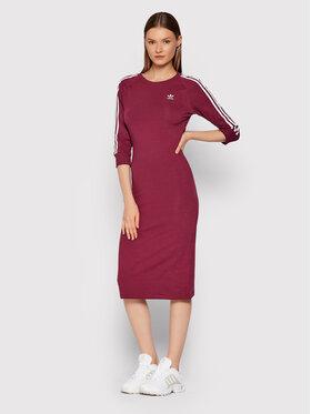 adidas adidas Sukienka codzienna adicolor Classics H06777 Bordowy Slim Fit
