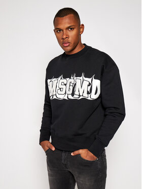 MSGM MSGM Sweatshirt 2940MM170 207599 Noir Regular Fit