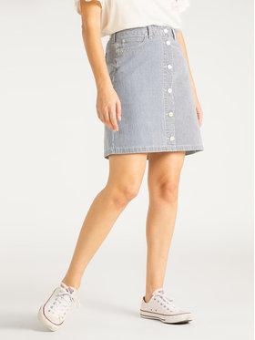 Lee Lee Džinsinis sijonas A Line L38NIWLX Tamsiai mėlyna Regular Fit