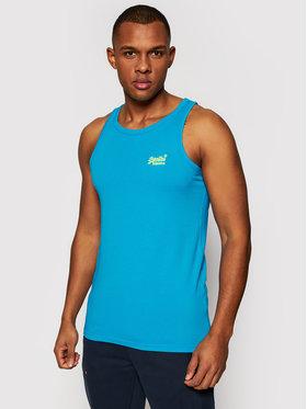 Superdry Superdry Tank top marškinėliai Ol Neon Lite M6010615A Mėlyna Regular Fit