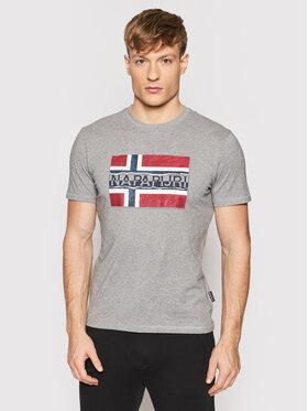 Napapijri Napapijri T-shirt Sench NP0A4FRR Grigio Regular Fit