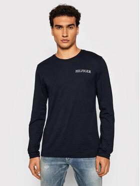 Tommy Hilfiger Tommy Hilfiger Тениска с дълъг ръкав Logo On Back MW0MW21461 Тъмносин Regular Fit