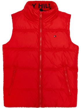 TOMMY HILFIGER TOMMY HILFIGER Mellény Solid KB0KB05983 D Piros Regular Fit