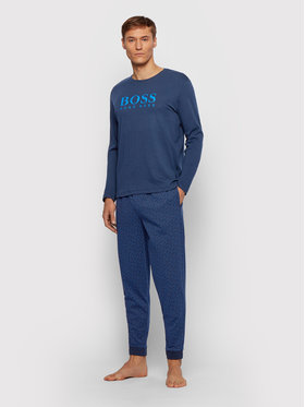 Boss Boss Pyjama Relax Long Set 50443448 Dunkelblau Regular Fit