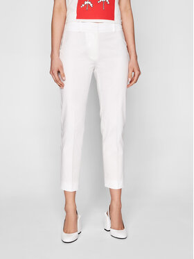 Weekend Max Mara Weekend Max Mara Pantaloni chino Faraone 51310611 Alb Regular Fit