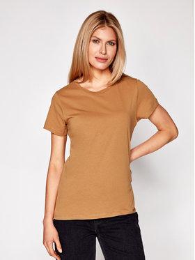 Samsøe Samsøe Samsøe Samsøe T-Shirt Solly Tee Solid 205 F00012050 Hnědá Regular Fit