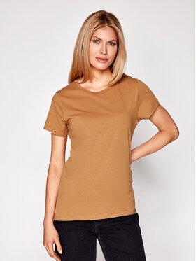 Samsøe Samsøe Samsøe Samsøe T-shirt Solly Tee Solid 205 F00012050 Marrone Regular Fit