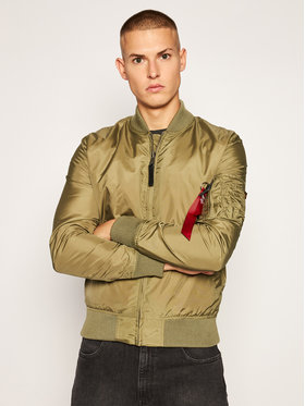 Alpha Industries Alpha Industries Яке бомбър Ma-1 Tt 191103 Зелен Regular Fit