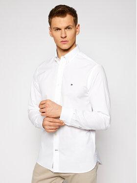 Tommy Hilfiger Tommy Hilfiger Koszula Natural Soft Poplin MW0MW18339 Biały Regular Fit