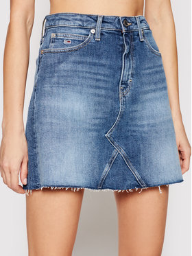 Tommy Jeans Tommy Jeans Spódnica jeansowa Ambc DW0DW10103 Granatowy Regular Fit