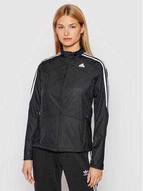 adidas adidas Kurtka do biegania Marathon 3-Stripes GK6062 Czarny Regular Fit