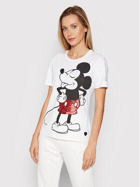 Fracomina Fracomina T-shirt FD21WT3001J40109 Bijela Regular Fit