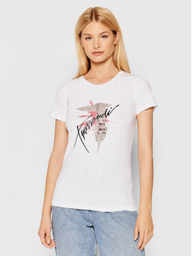Trussardi Trussardi T-shirt 56T00384 Bianco Slim Fit