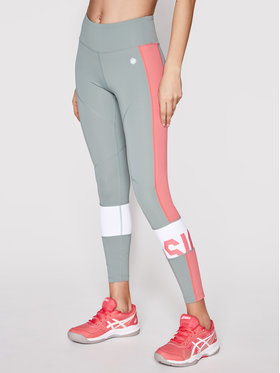 Asics Asics Leggings Color Block 2032A410 Zöld Slim Fit
