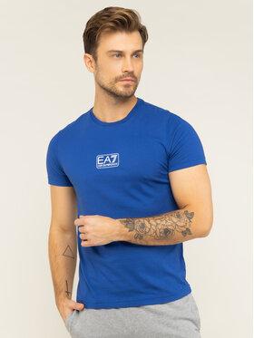 EA7 Emporio Armani EA7 Emporio Armani T-Shirt 8NPT11 PJNQZ 1570 Modrá Regular Fit