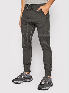 Tigha Tigha Spodnie dresowe Trevor Zip 102585 Szary Regular Fit