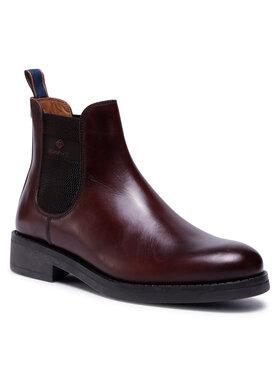 Gant Gant Kotníková obuv s elastickým prvkem Brookly 21651011 Hnědá