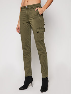 Guess Guess Pantaloni din material Sexy Cargo W1RB14 WDPA1 Verde Slim Fit
