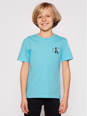 Calvin Klein Jeans Calvin Klein Jeans Póló Chest Monogram IB0IB00612 Kék Regular Fit