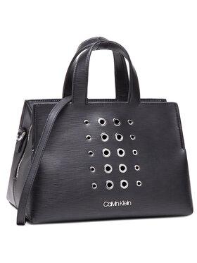 Calvin Klein Calvin Klein Táska Tote W/Zip Md Eyelets K60K608075 Fekete