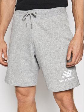 New Balance New Balance Pantaloni scurți sport Essentials MS03558 Gri Regular Fit