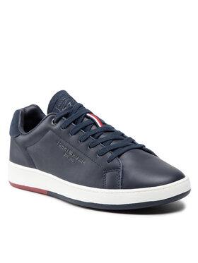 Tommy Hilfiger Tommy Hilfiger Sneakers Retro Tennis Cupsole Leather FM0FM03726 Bleu marine